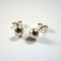 Silver Nugget Stud Earrings