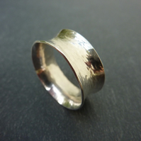 Sterling Silver Textured Anticlastic Ring