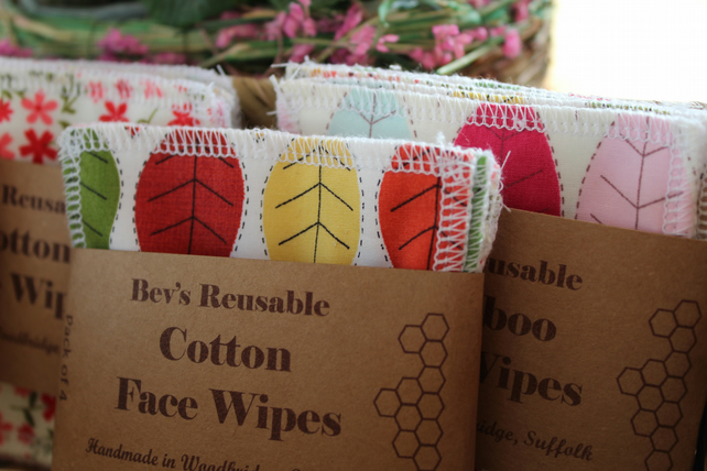 Cotton Face Wipes Cleansing Facial Rounds Makeup Remover Pads Reusable Washable