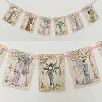 Fairy Garland Decoration Flower Pastel, Home, Party, Magic