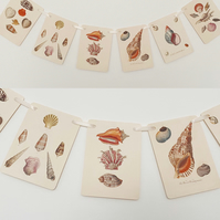 Shell Seaside Garland Decoration Vintage Style Book plate Bunting