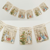 Peter Rabbit Garland Baby Shower Birthday Bunting Decoration