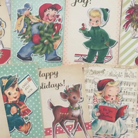 Christmas Card Toppers, craft, make your own cards tags scrapbooking, vintage