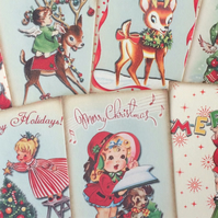 Christmas card toppers, craft vintage scrapbooking tags and other craft projects
