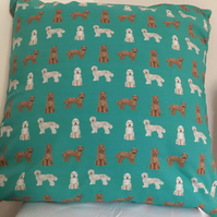 Labradoodle cushion