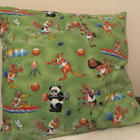 Sports theme cushion
