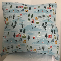Snow scene cushion
