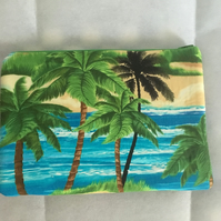 Palm tree padded computer case