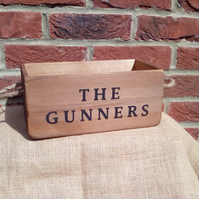 "Brilliant retro style ""THE GUNNERS"" rustic wooden football theme storage box."