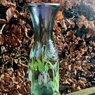 Snow Drop Handpainted Vase