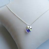 Swarovski necklace, swarovski crystal necklace, silver crystal necklace
