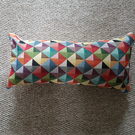 Multicoloured bolster cushion cover-tapestry cushion cover-geometric cover
