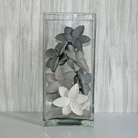 Set of 10 Handmade Natural Concrete Lilies