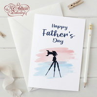 Father's day Card Card for your Dad who loves photography, A5 size, Personalised
