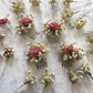 Dried flower hair comb - Pink Larkspur, Gypsophila & Phalaris - Wedding - Pink