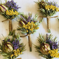 Boutonniere of dried flowers EUROPA wedding groom