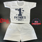 Plain Baby Shorts & T Shirt Sets-Fathers Day -Dad Rocks-Funny Baby Sets- -100 %