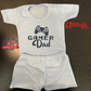 Plain Baby Shorts & T Shirt Sets-Fathers Day -Gamer Dad-Funny Baby Sets- -100 %