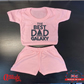 Plain Baby Shorts & T Shirt Sets-Fathers Day -Best Dad In The Galaxy-Funny Baby