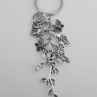 Someone Special Large Keyring With Little Frog On Branch Flowers and Butterflies