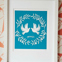 Peace doves screen print