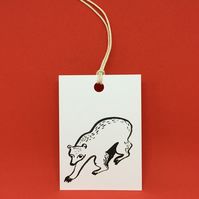 Bear in the Snow Gift Tags - set of 4