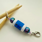 Row counter clip on, knitting needle end stopper, flower bead row counter