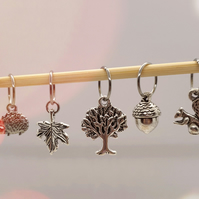 Woodland Stitch Markers, stitch markers for knitting, stitch markers for crochet