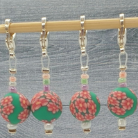 Flower Stitch Markers, crochet stitch markers, end markers, round markers, place