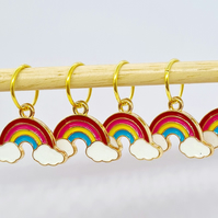Rainbow Stitch Markers, stitch markers for knitting, stitch markers for crochet