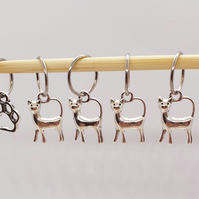 Cat Stitch Markers, stitch markers for knitting, stitch markers for crochet