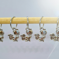 Foxy Lady Stitch Markers, stitch markers for knitting and crochet