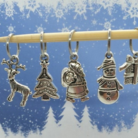 Christmas Stitch Markers, stitch markers for knitting and crochet