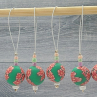 Flower Stitch Markers, knitting stitch markers, end markers, row markers