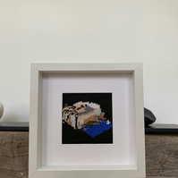 Tracey Emin Framed Knitted Art - Art Print - Messy Bed Illustration Knit