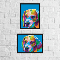 Dog: Beagle (Geometric Rainbow Collection)