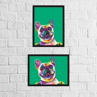 Dog: French Bulldog (Geometric Rainbow Collection)