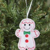 gingerbread snowman hanging decoration