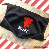 Manchester United Football Club Embroidered Face Mask with built in filter pocke