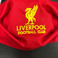 Embroidered Liverpool Face mask. Superb quality. Double sided with filter pocket