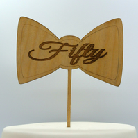 Bo Tie With Customizable Age Cake Topper