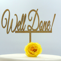 Well Done Cake Topper
