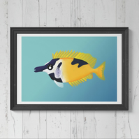 Foxface Rabbit Fish Art print