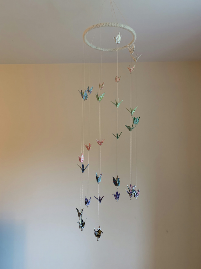 Mobile Origami crane spectacle - origami mobile | HappyShappy | 856x642