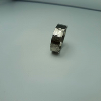 Hammered silver ring, silver ring band. Handmade silver ring made to order, silv