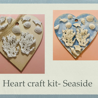 Make your own seaside hanging heart -craft kit adults
