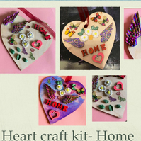 Make your own love hanging heart -craft kit adults & kids