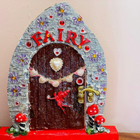 Silver and Red Fairy Door