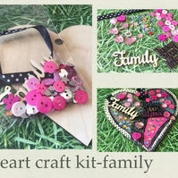 Make your own hanging heart -craft kit adults & kids