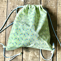 Gorgeous cotton drawstring bag, kit bag, gym bag, pump bag